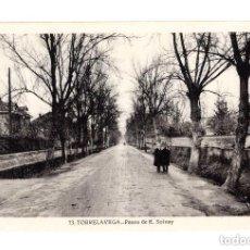 Postales: TORRELAVEGA.(CANTABRIA).- PASEO DE E. SOLVAY. Lote 146148990