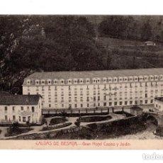 Postales: CALDAS DE BESAYA.(SANTANDER).- GRAN HOTEL CASINO Y JARDÍN. Lote 146151086