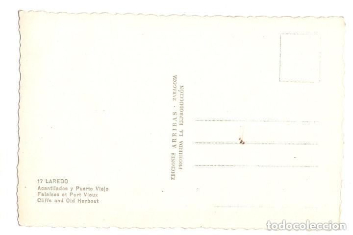 Postales: LAREDO.(CANTABRIA).- ACANTILADOS Y PUERTO VIEJO. - Foto 2 - 146154886