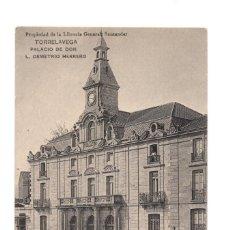 Postales: TORRELAVEGA.(CANTABRIA).- PALACIO DE DON L. DEMETRIO HERRERO.. Lote 146163538
