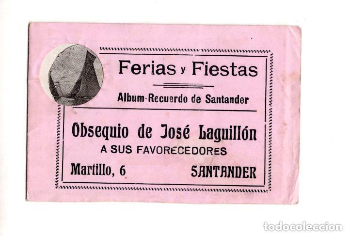 ALBÚM RECUERDO DE SANTANDER. FERIAS Y FIESTAS. OBSEQUIO DE JOSÉ LAGUILLÓN.JARDINERO (Postales - España - Cantabria Antigua (hasta 1.939))