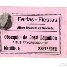 Postales: ALBÚM RECUERDO DE SANTANDER. FERIAS Y FIESTAS. OBSEQUIO DE JOSÉ LAGUILLÓN.JARDINERO. Lote 146305702