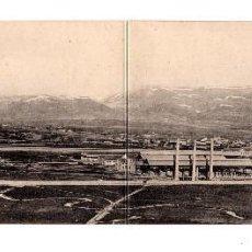 Postales: REINOSA. (CANTABRIA).- CONSTRUCTORA NAVAL VISTA GENERAL. DOBLE . Lote 146353262