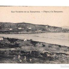 Postales: SAN VICENTE DE LA BARQUERA.(CANTABRIA). PLAYA Y BARQUERA. Lote 146361834