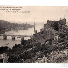 Postales: SAN VICENTE DE LA BARQUERA.(CANTABRIA).- EL CASTILLO Y LA BARQUERA. Lote 146370638