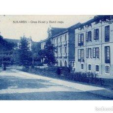 Postales: BALNEARIO DE SOLARES.(SANTANDER).- GRAN HOTEL Y HOTEL VIEJO. Lote 146776878