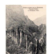 Postales: LA HERMIDA.(CANTABRIA).- DESFILADERO DE LA HERMIDA. PUENTE URDÓN. Lote 146778474