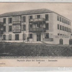 Postales: SEGUNDA PLAYA DEL SARDINERO. SANTANDER. HOTEL DE CLETO DE LA COLINA. ZENON FOTO. . Lote 146867926