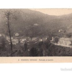 Postales: PUENTE VIESGO.(CANTABRIA).- ENTRADA AL PUEBLO. Lote 147009786