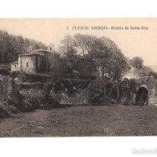 Postales: PUENTE VIESGO .(CANTABRIA).- ERMITA DE SANTA ANA. Lote 147009934