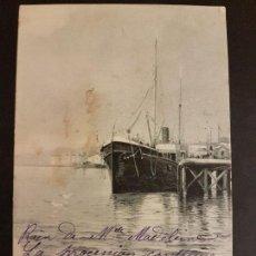 Postales: SANTANDER PUERTO POSTAL 1904 R. VERDUGO ILUSTRADOR. Lote 147070674