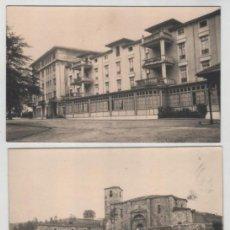 Postales: LOTE DE 3 POSTALES LIERGANES GRAN HOTEL IGLESIA PARROQUIAL Y CRUZ DE RUBALCABA. Lote 147178534