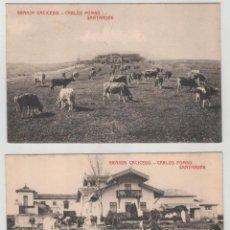 Postales: LOTE DE 2 POSTALES GRANJA CAICEDO CARLOS POMBO SANTANDER. Lote 147180506