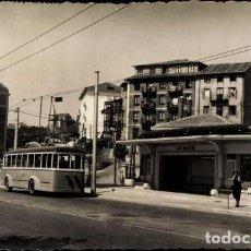 Postales: SANTANDER ANTIGUA POSTAL ESTACIÓN DEL TROLEBÚS EN SAN MARTÍN 1953. Lote 147248706