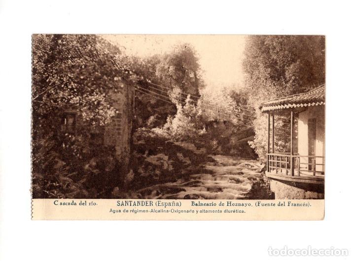 BALNEARIO DE HOZNAYO.(SANTANDER).- CASCADA DEL RIO. (FUENTE DEL FRANCÉS). (Postales - España - Cantabria Antigua (hasta 1.939))
