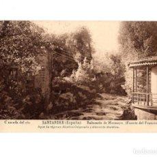 Postales: BALNEARIO DE HOZNAYO.(SANTANDER).- CASCADA DEL RIO. (FUENTE DEL FRANCÉS).. Lote 147341026