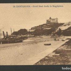 Postales: SANTANDER-HOTEL REAL DESDE LA MAGDALENA-POSTAL ANTIGUA-(56.168). Lote 147380054