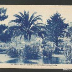 Postales: SANTANDER-EL ESTANQUE DE LOS JARDINES DE PEREDA-10-GRAFOS-POSTAL ANTIGUA-(56.169). Lote 147380518
