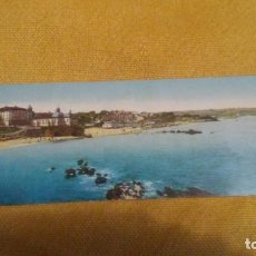 Postales: PANORAMA DEL SARDINERO CON LA ERMITA DE SAN ROQUE. 9 X 28 CM COLOREADA. SIN CIRCULAR. Lote 147510262