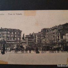 Postales: SANTANDER PLAZA DE VELARDE. Lote 147580098
