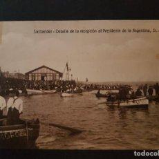 Postales: SANTANDER DETALLE DE LA RECEPCION AL PRESIDENTE DE LA ARGENTINA , SR. ALVEAR. Lote 147580526