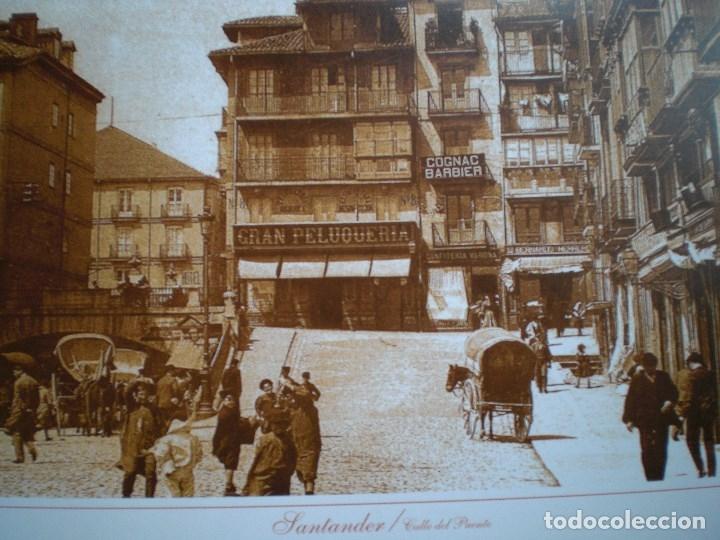 Postales: SANTANDER CANTABRIA LOTE LÁMINAS CALLE DEL PUENTE PLAYA TREN SARDINERO - Foto 4 - 147732002