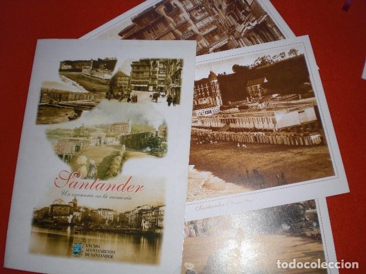 Postales: SANTANDER CANTABRIA LOTE LÁMINAS CALLE DEL PUENTE PLAYA TREN SARDINERO - Foto 6 - 147732002