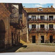 Postales: SANTILLANA DEL MAR RINCON DE LA PLAZA - FOTO A. BUSTAMENTE. Lote 147790090