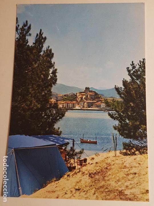 SAN VICENTE DE LA BARQUERA, CAMPING E IGLESIA (Postales - España - Cantabria Antigua (hasta 1.939))