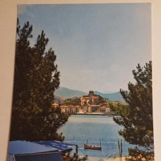 Postales: SAN VICENTE DE LA BARQUERA, CAMPING E IGLESIA. Lote 147852562