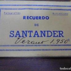 Postales: BLOC DE 10 TARJETAS POSTALES DE RECUERDO DE SANTANDER. EDICIONES ARRIBAS.. Lote 147997446
