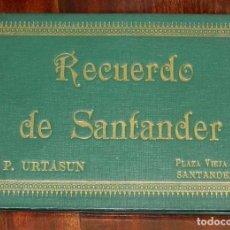 Postales: ANTIGUO CUADERNILLO CON 12 FOTOGRAFIAS DE SANTANDER. MUY INTERESANTE. HERMOSO PORTFOLIO DE FOTOGRAFÍ. Lote 149125270
