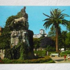 Postales: SANTANDER 131. MONUMENTO A JOSE MARIA DE PEREDA. JARDINES. FOTO ALSAR. CIRCULADA. Lote 151669970