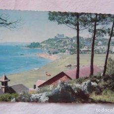 Postales: SANTANDER 208. PLAYA DE LA MAGDALENA, AL FONDO, HOTEL REAL. ESCRITA 1961. Lote 151821986