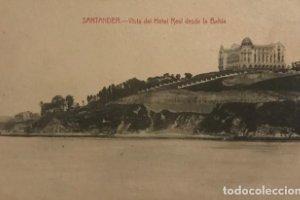 Santander. Vista del Hotel Real desde la Bahía