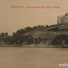 Postales: SANTANDER. VISTA DEL HOTEL REAL DESDE LA BAHÍA. Lote 149273146
