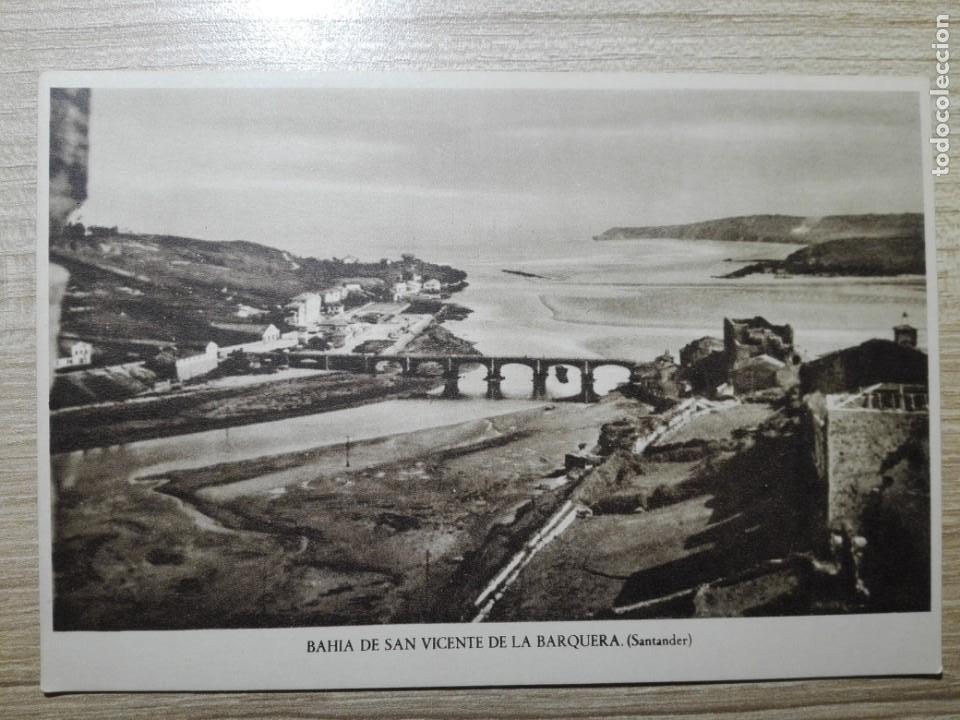 POSTAL BAHIA DE SAN VICENTE DE LA BARQUERA SANTANDER Nº7 NUEVA SIN CIRCULAR (Postales - España - Cantabria Antigua (hasta 1.939))