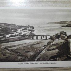 Postales: POSTAL BAHIA DE SAN VICENTE DE LA BARQUERA SANTANDER Nº7 NUEVA SIN CIRCULAR. Lote 152683482