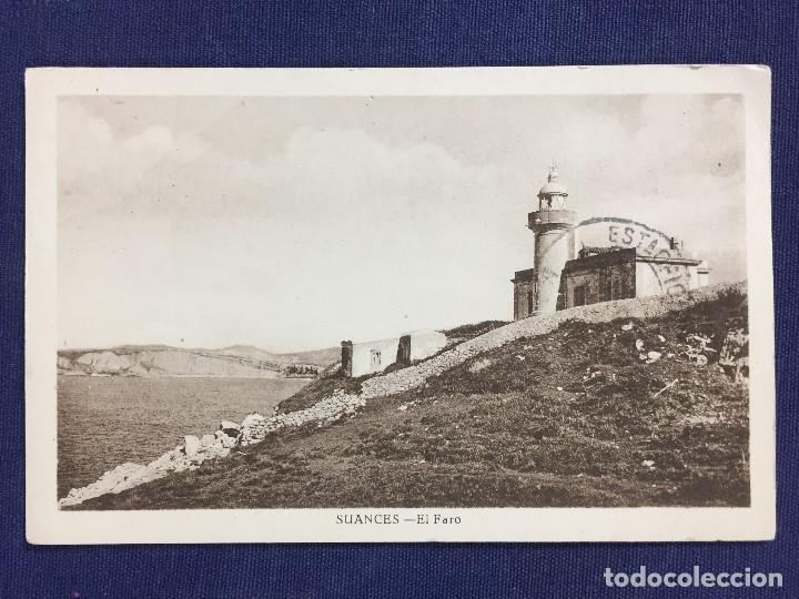ANTIGUA POSTAL EL FARO DE SUANCES SANTANDER CANTABRIA 1950 (Postales - España - Cantabria Moderna (desde 1.940))