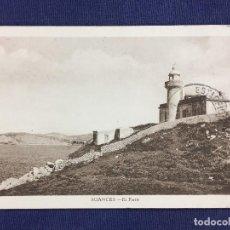 Postales: ANTIGUA POSTAL EL FARO DE SUANCES SANTANDER CANTABRIA 1950. Lote 153163230