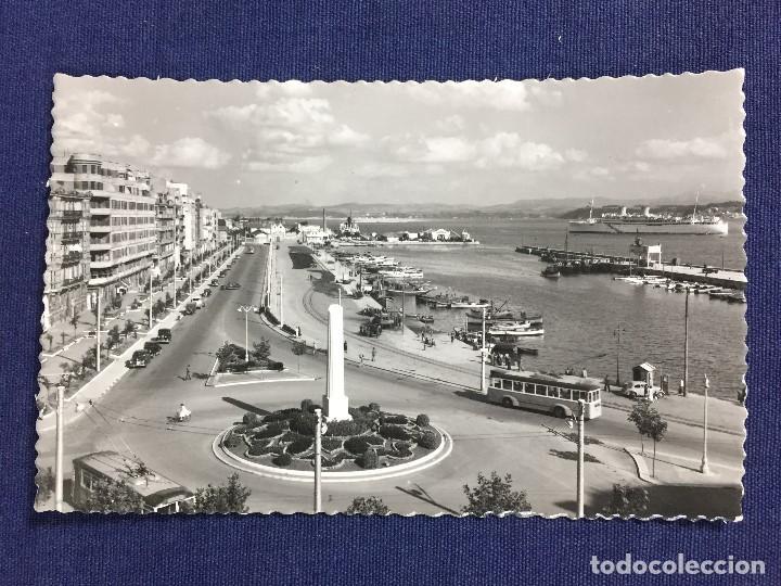 TARJETA POSTAL CALLE DE CASTELAR SANTANDER CANTABRIA SELLO MAYO 1954 (Postales - España - Cantabria Moderna (desde 1.940))