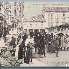 Postales: POSTAL TORRELAVEGA MERCADO FERIA AGRICOLA PLAZA MAYOR LIBRERIA GENERAL SANTANDER CANTABRIA SIN DIVID. Lote 153191922