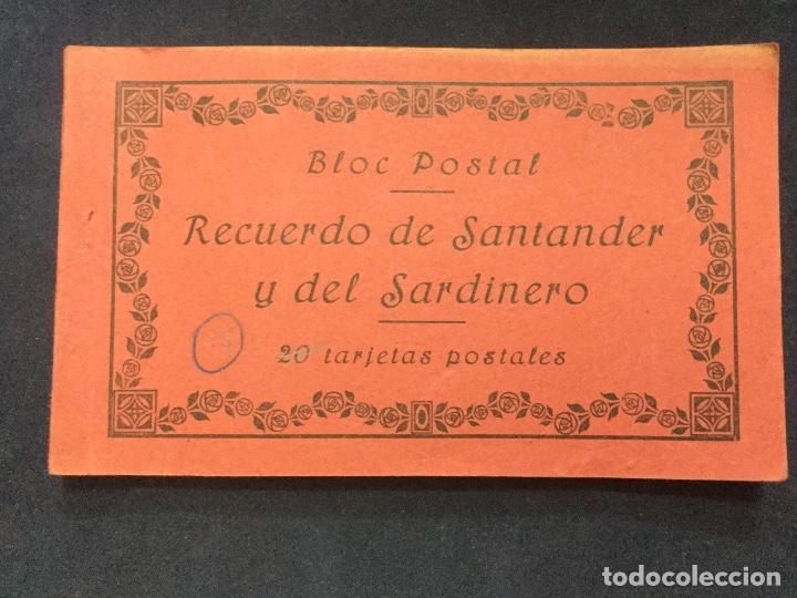 BLOC POSTAL RECUERDO DE SANTANDER Y DEL SARDINERO 17 POSTALES (Postales - España - Cantabria Antigua (hasta 1.939))