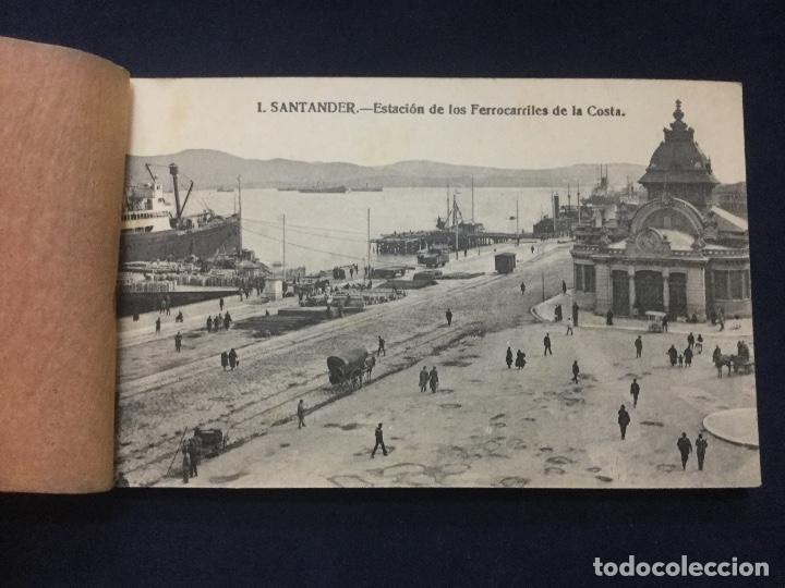 Postales: BLOC POSTAL RECUERDO DE SANTANDER Y DEL SARDINERO 17 POSTALES - Foto 2 - 154761994