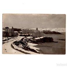 Postales: SANTANDER.(CANTABRIA).- EL SARDINERO NEVADO.1886. POSTAL FOTOGRÁFICA.. Lote 154919230