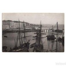 Postales: SANTANDER.(CANTABRIA).- MUELLE Y BAHÍA 1881. POSTAL FOTOGRÁFICA. . Lote 154925502