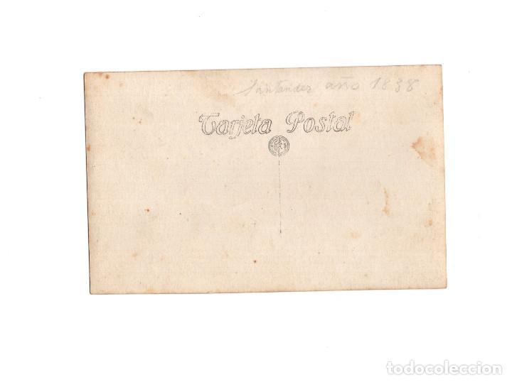 Postales: SANTANDER.(CANTABRIA).- AÑO 1838. FOTO SANTIAGO TOCA. POSTAL FOTOGRÁFICA. - Foto 2 - 154928414