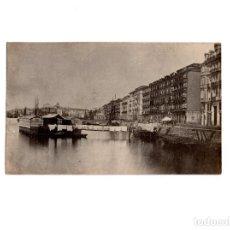 Postales: SANTANDER.(CANTABRIA).- MUELLE. 1872. POSTAL FOTOGRÁFICA.. Lote 154930274