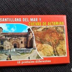 Postales: 12 POSTALES SANTILLANA Y CUEVAS ALTAMIRA. Lote 155111650