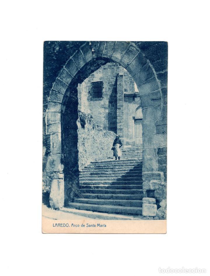 LAREDO.(CANTABRIA).- ARCO DE SANTA MARIA (Postales - España - Cantabria Antigua (hasta 1.939))